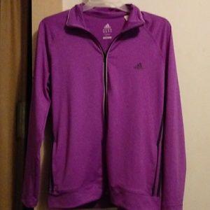 Violet purple Adidas Climalite zippered jacket